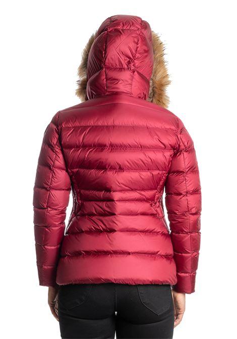 Piumino corto strass rosso BLAUER | Piumini | 3084PIUMA-568