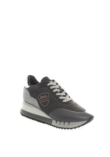Blauer sneaker charlotte grigio BLAUER | Sneakers | CHARLOTTE08SUEDE/GLITTER-GREY