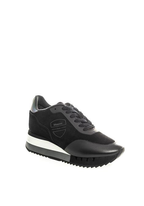 Blauer sneaker charlotte nero BLAUER | Sneakers | CHARLOTTE08SUEDE-BLACK