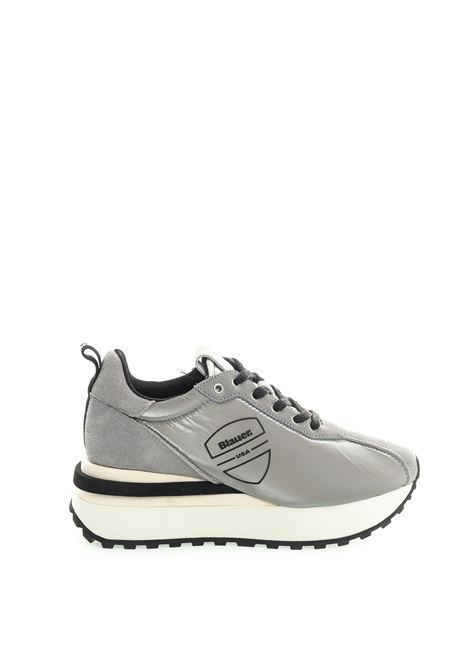 Blauer sneaker mabel argento BLAUER | Sneakers | MABEL01NYLON/SUEDE-SILVER