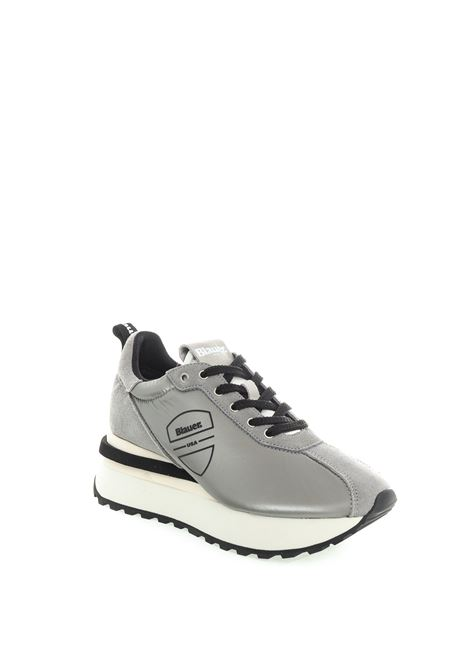 Blauer sneaker mabel argento BLAUER | Sneakers | MABEL01NYLON/SUEDE-SILVER
