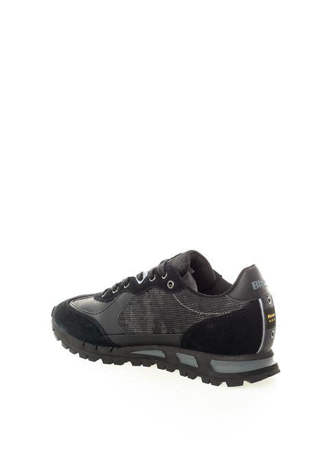 Blauer sneaker mustang nero BLAUER | Sneakers | MUSTANG04MESH/SUEDE-BLACK
