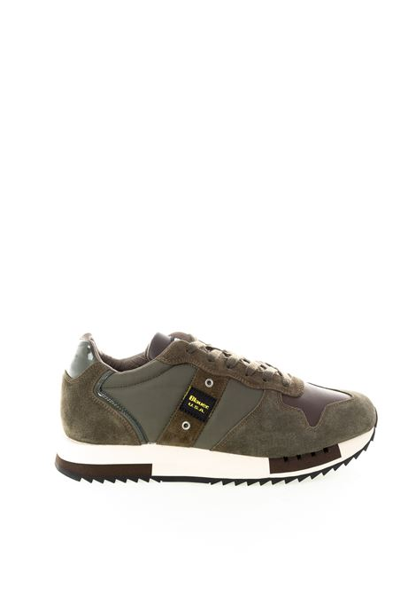 Blauer sneaker queens marrone BLAUER | Sneakers | QUEENS01NYLON-D.BROWN