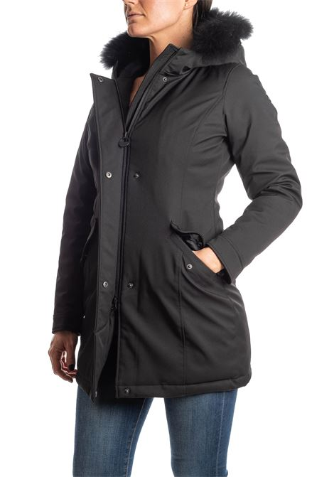 Parka nylon nero CENSURED | Giubbini | 178PTES-90