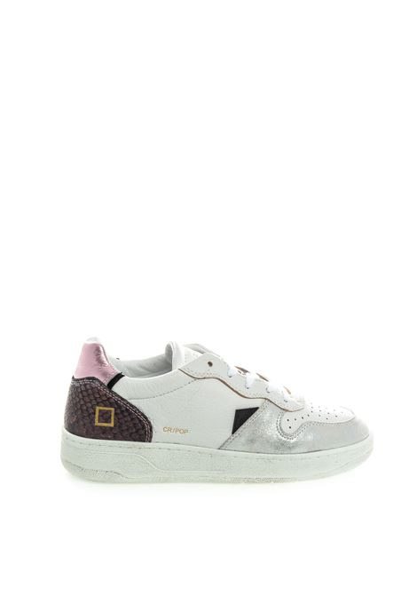 D.A.T.E sneaker court pop bianco/silver DATE | Sneakers | COURT DPOP-PYTHON