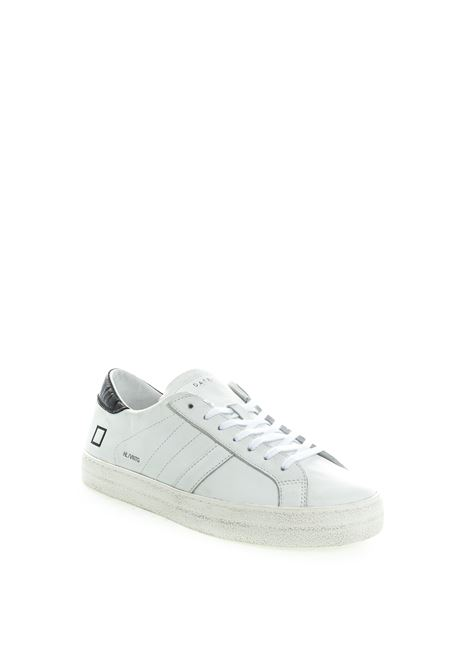 D.A.T.E sneaker hill low bianco/nero D.A.T.E | Sneakers | HILL LOWCALF-WHI/BLACK