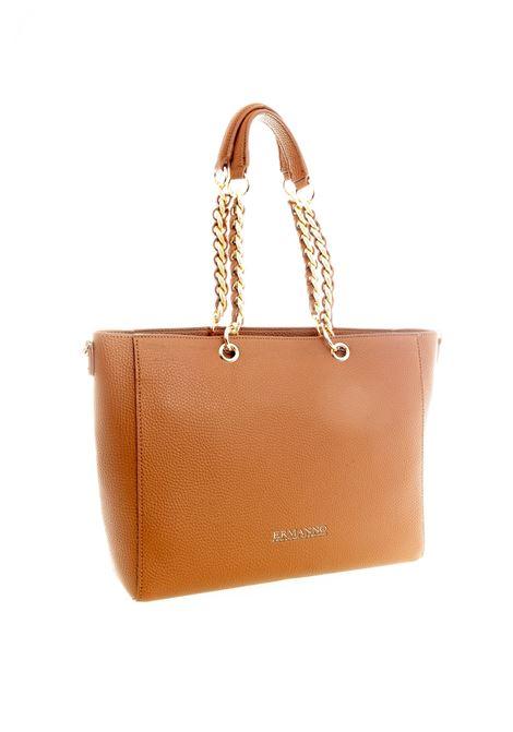 Shopping eba plain cuoio ERMANNO SCERVINO | Borse a spalla | 031EBA PLAIN-2244
