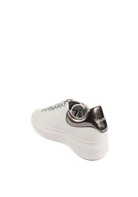 Sneaker logo argento GAELLE | Sneakers | 1808PELLE-ARGENTO