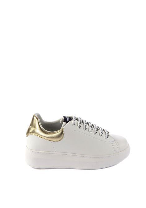 Sneaker logo oro GAELLE | Sneakers | 1808PELLE-ORO