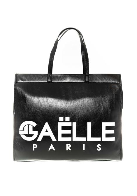 Shopping logo nero GAELLE | Borse a mano | 1867LAMINATO-NERO