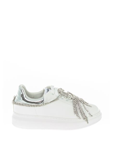 Sneaker charm strass bianco GAELLE   Sneakers   2174PELLE-BIANCO