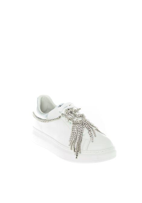 Sneaker charm strass bianco GAELLE | Sneakers | 2174PELLE-BIANCO