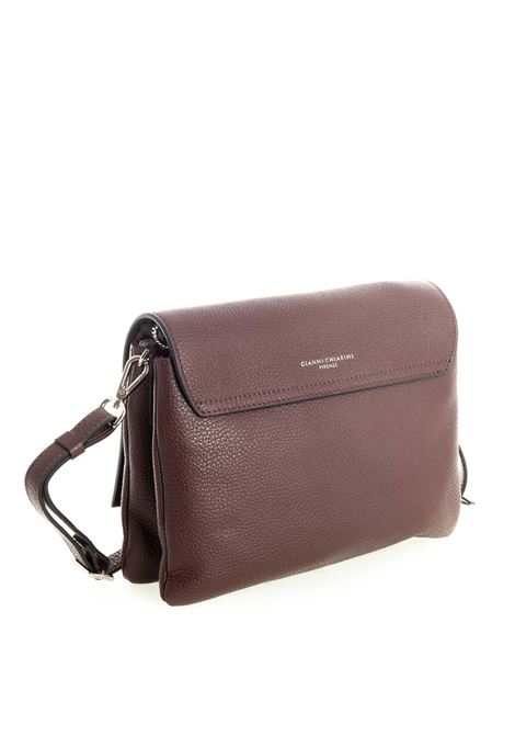 Tracolla patta three bordeaux GIANNI CHIARINI | Borse mini | 4364THREE-6649
