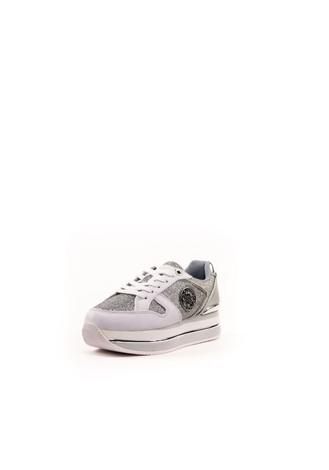 GUESS SNEAKER ACTIVE BIANCO/SILVER GUESS | Sneakers | FL5DLYACTIVE-WHITE/SILVER