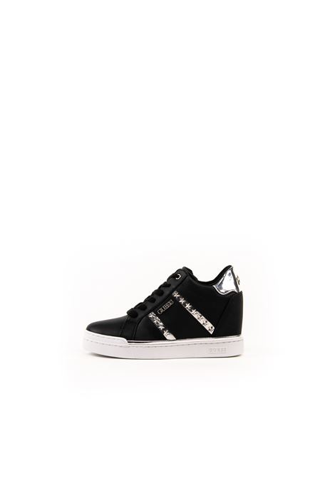 GUESS SNEAKER FAYNE NERO/ARGENTO GUESS | Sneakers | FL5FAYFAYNE-BLACK/SILVER