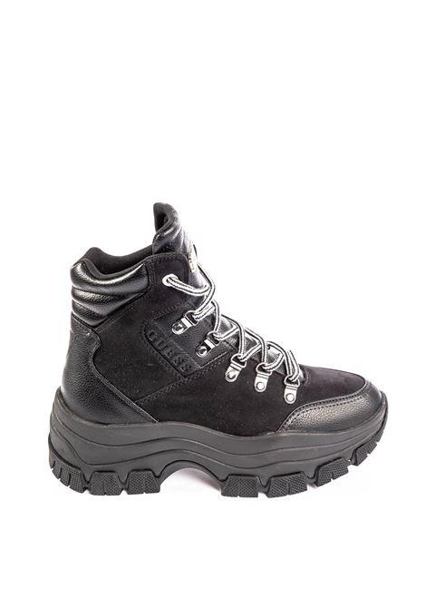 Guess sneaker mid bevele nero GUESS | Sneakers | FL8BEVELE12-BLACK