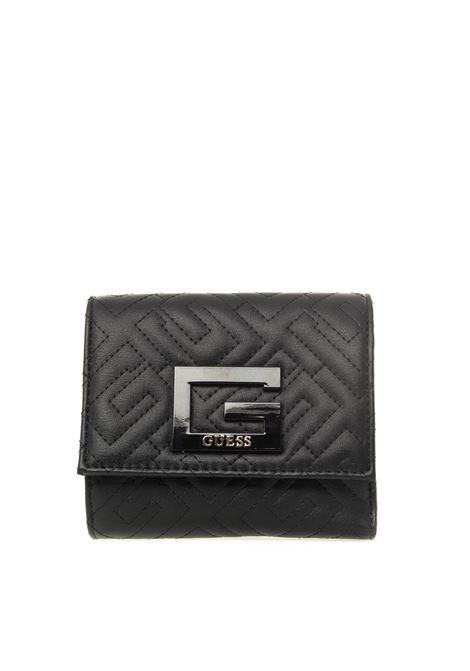 Guess portafoglio mini brightside nero GUESS | Portafogli | QG7580430BRIGHTSIDE-BLA