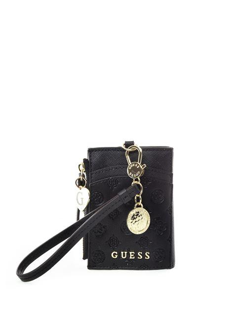 Guessa portacarte nero GUESS | Portafogli | RW7366CARD CASE-BLA