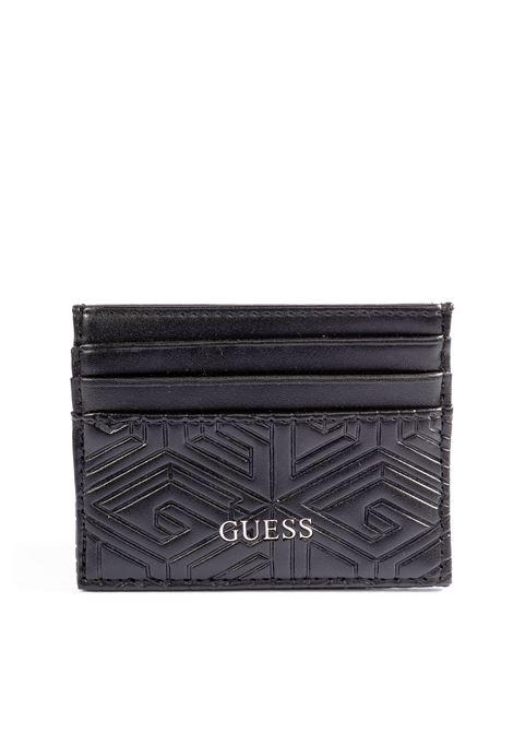 Guess portacarte baldo nero GUESS | Portafogli | SMBALDBALDO CARD CASE-BLA