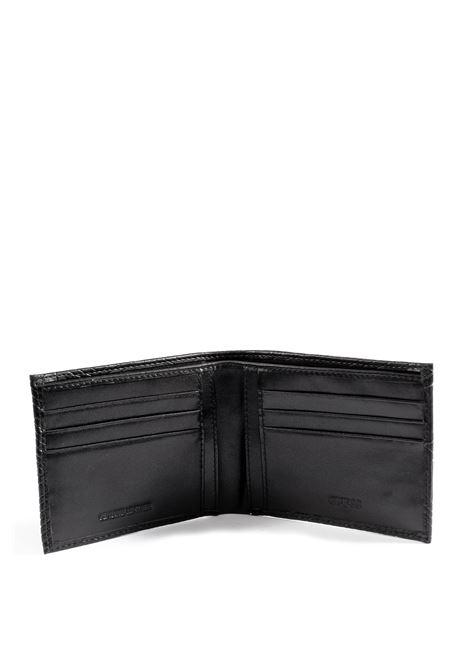 Guess portafoglio baldo nero GUESS | Portafogli | SMBALDBALDO FLAT BILLFOLD-BLA