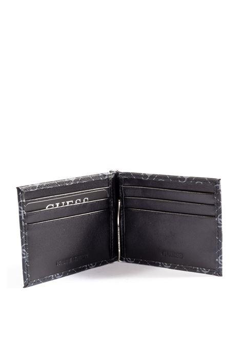 Guess portafoglio clip nero GUESS | Portafogli | SMVEZZVEZZOLA CLIP-BLA