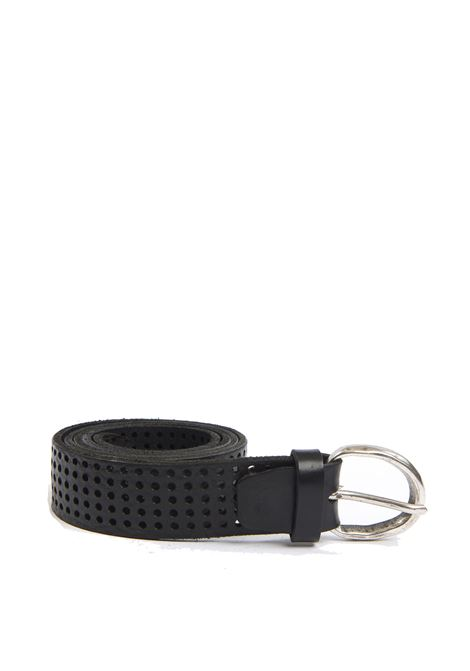 Cintura forata nero ITALIAN BELTS | Cintura | 605/30VIT-NERO
