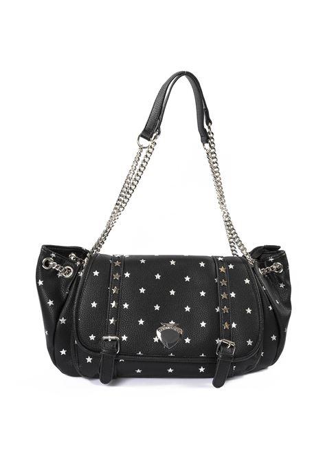 Baguette vicky star nero LE PANDORINE | Borse a spalla | 2595VICKY POSTY-05