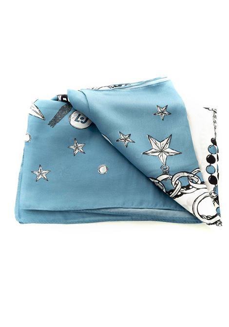 Sciarpa metalleria blu LIU JO | Foulards | 2F0106T0300METALLERIA-74023