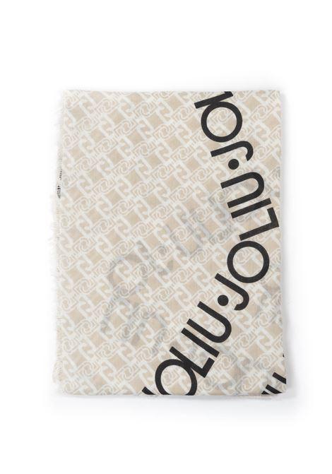 Foulard logo stella beige LIU JO | Foulards | 3F0022T0300LOGO STELLA-33801