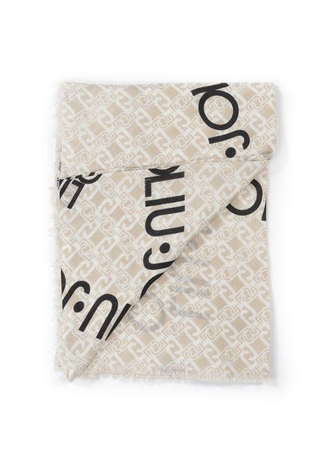 Liu Jo foulard logo stella beige LIU JO | Foulards | 3F0022T0300LOGO STELLA-33801