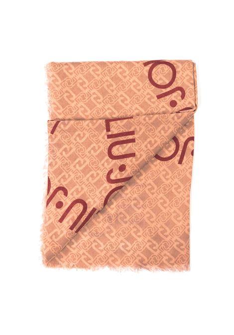 Liu Jo foulard logo stella cipria LIU JO | Foulards | 3F0022T0300LOGO STELLA-90088
