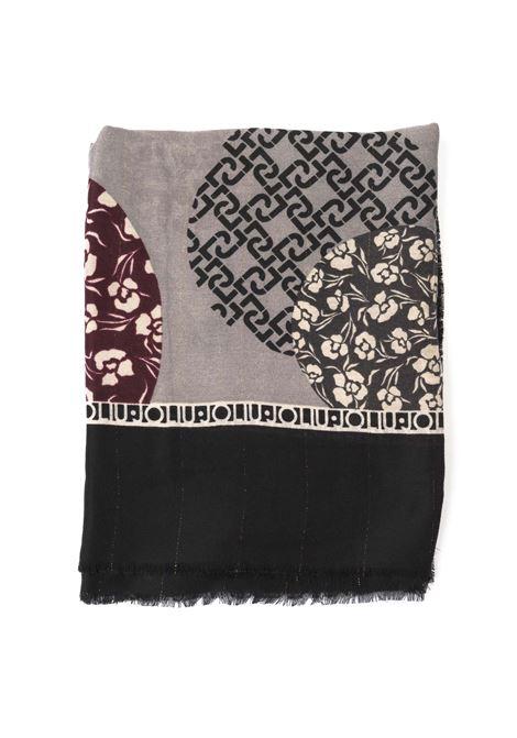 Foulard logo pois nero LIU JO | Foulards | 3F0024T0300LOGO POIS-22222