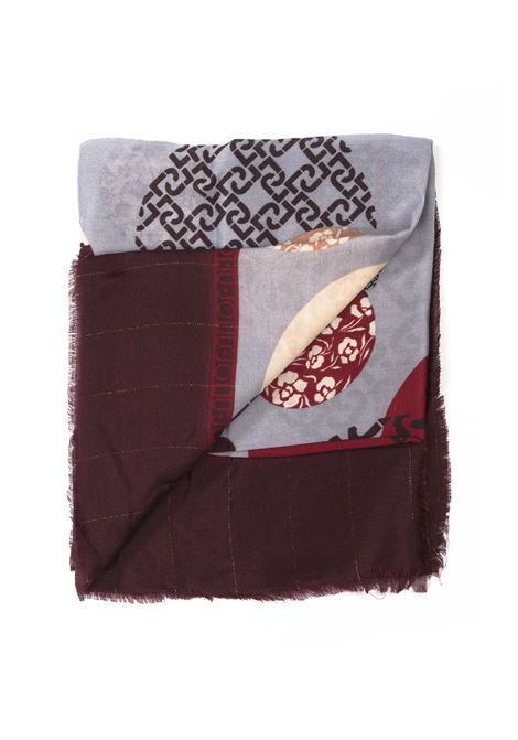 Liu jo foulard logo pois bordeaux LIU JO | Foulards | 3F0024T0300LOGO POIS-91725
