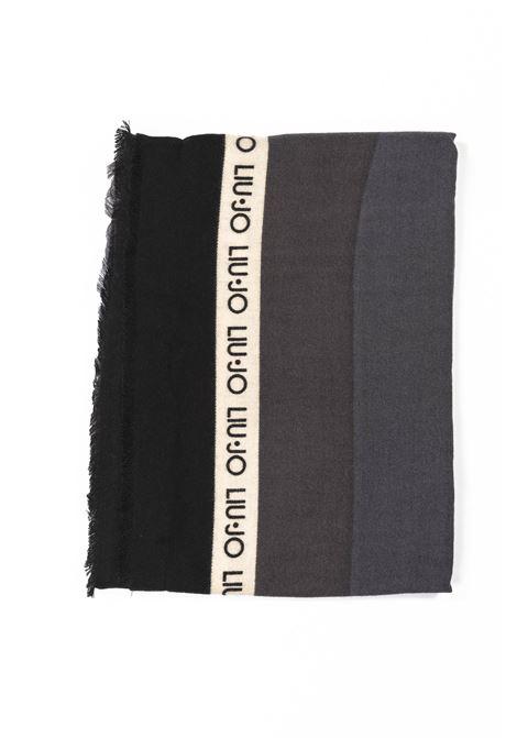 Foulard macrologo nero LIU JO | Foulards | 3F0031T0300MACROLOGO-22222