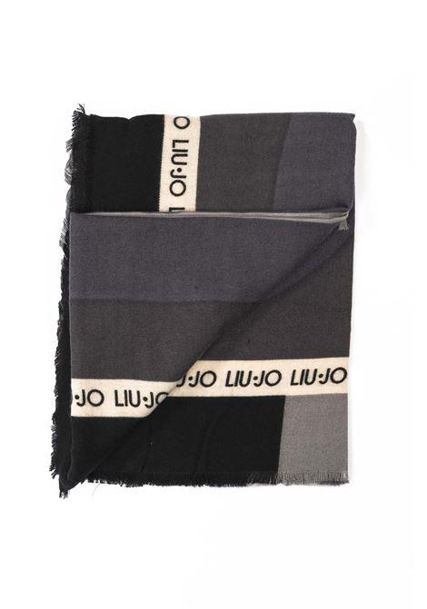 Liu jo foulard macrologo nero LIU JO | Foulards | 3F0031T0300MACROLOGO-22222