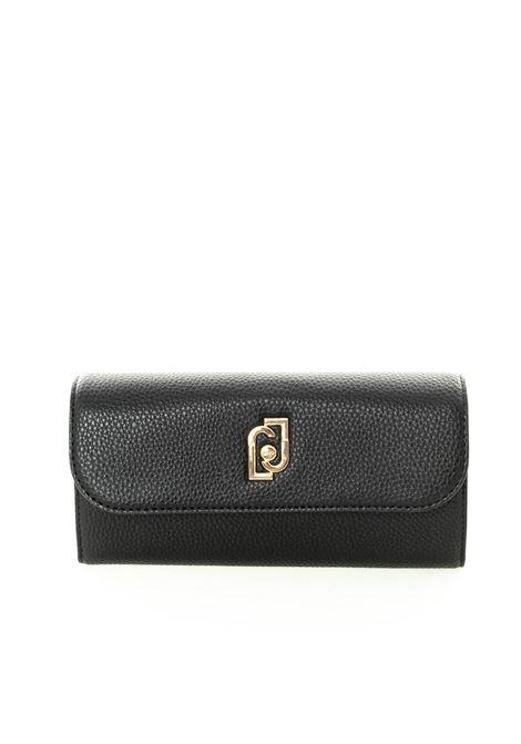 Liu jo portafoglio g con logo gioiello nero LIU JO | Portafogli | AF0010E0086BOTT-22222