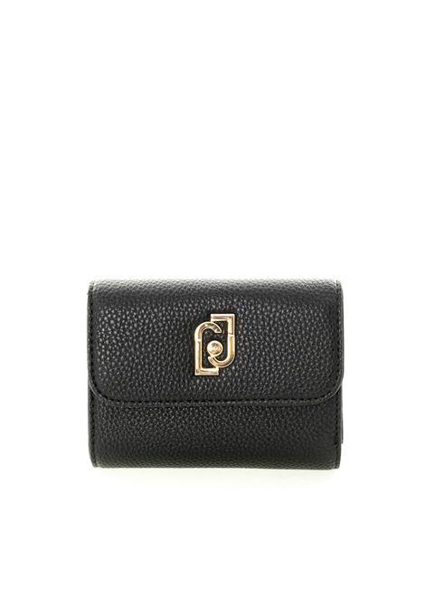 Portafoglio mini gioiello nero LIU JO | Portafogli | AF0011E0086PELLE-22222
