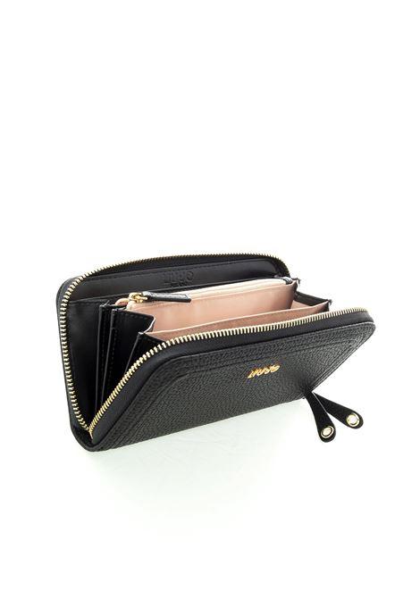 Liu Jo portafoglio grande zip e logo nero LIU JO | Portafogli | AF0070E0058BOTT-22222