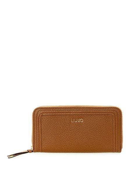 Liu Jo portafoglio grande zip logo cuoio LIU JO | Portafogli | AF0070E0058BOTT-X0282