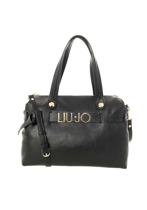 Shopping lettering metal nero LIU JO | Borse a spalla | AF0116E0160LETTERING-22222
