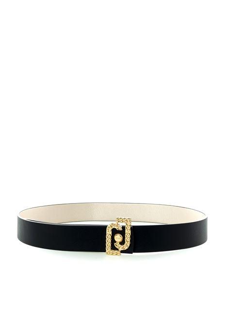 Cintura gioiello nero/oro LIU JO | Cinture | AF0167E0006PELLE-04569