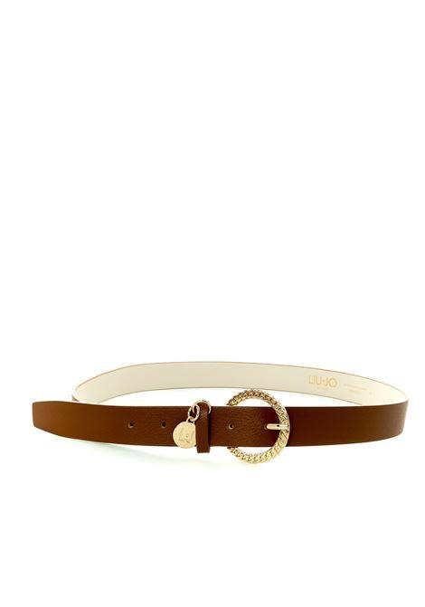 Cintura cool cuoio LIU JO | Cinture | AF0173E0006PELLE-X0282