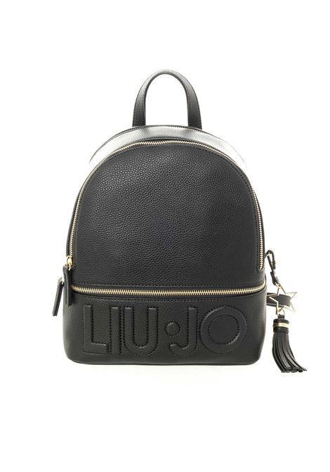 Liu Jo zaino logo nero LIU JO | Zaini | AF0211E0086LOGO-22222