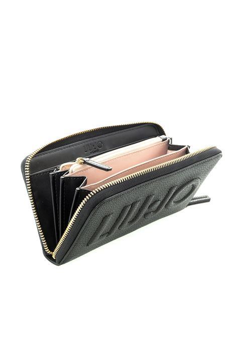 Liu jo portafoglio bottalato zip nero LIU JO | Portafogli | AF0214E0086BOTT-22222