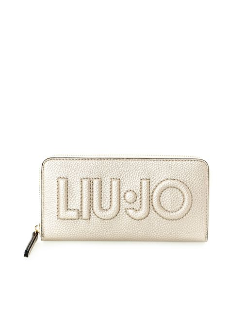 Liu jo portafoglio bottalato zip oro LIU JO | Portafogli | AF0214E0086BOTT-90048