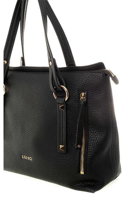 Shopping famosa nero LIU JO | Borse a spalla | NF0050E0161FAMOSA-22222