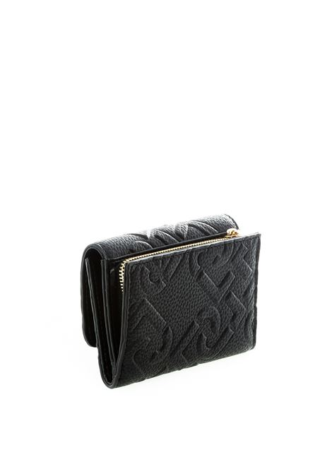 Liu jo portafoglio piccolo con logo nero LIU JO | Portafogli | NF0116E0538PELLE-22222