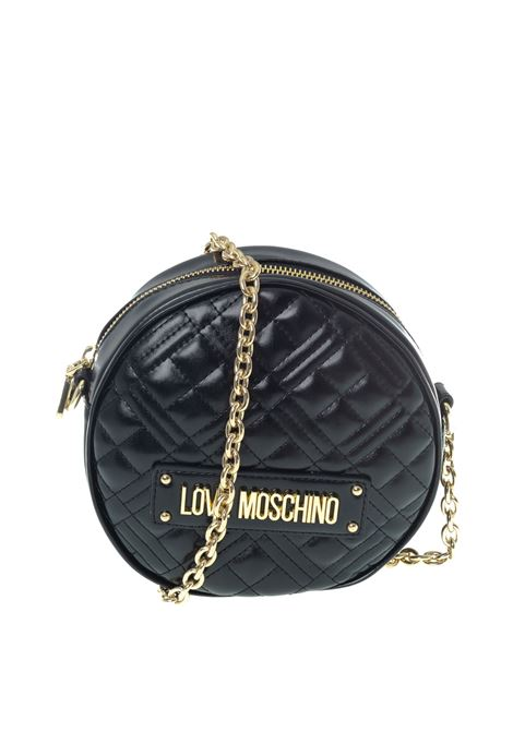 Tracolla new shiny quilted nero LOVE MOSCHINO | Borse mini | 4003QUILTED-000
