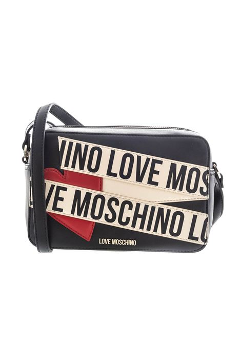 Love moschino tracolla printe scroll nero LOVE MOSCHINO | Borse mini | 4027PELLE-00A