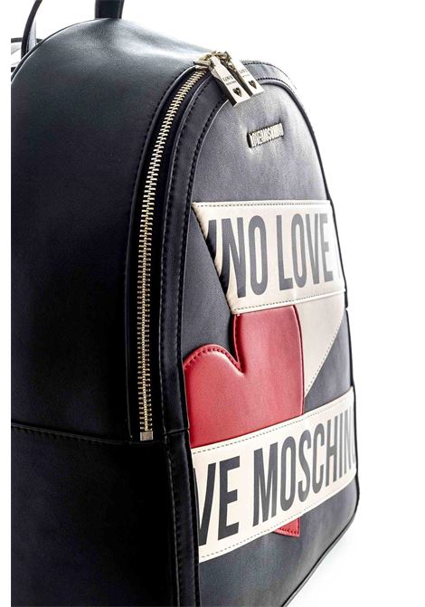 Love moschino zaino printed scroll nero LOVE MOSCHINO | Zaini | 4029PELLE-00A